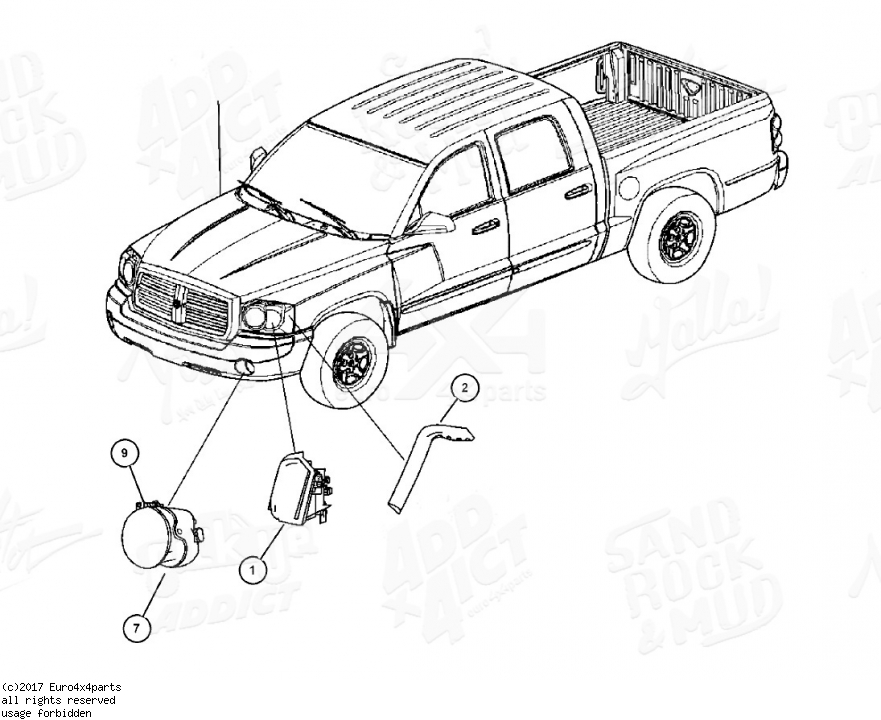 Download DODGE DAKOTA Replacement Parts Manual 2005-2007