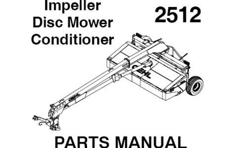 GEHL 2412 DISC MOWER CONDITIONER Parts Manual IPL PART