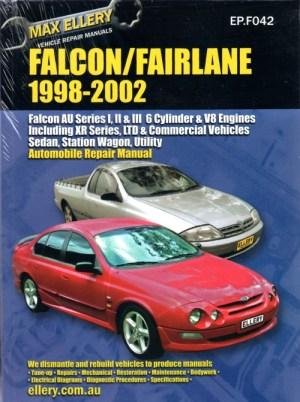 Ford Falcon Fairlane AU Series 1,2,3 repair manual Ellery 19982002 NEW  sagin workshop car