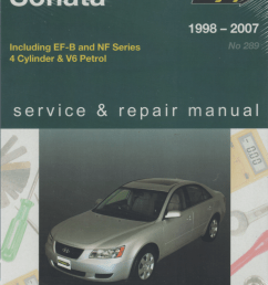 hyundai sonata 1998 2007 gregorys service repair manual [ 825 x 1055 Pixel ]