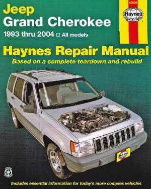 Jeep Grand Cherokee Haynes Service Repair Manual 19932004