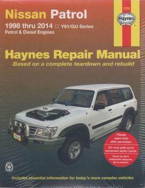 Nissan Patrol Y61GU Petrol Diesel 19982014 Haynes Service Repair Manual  sagin workshop car