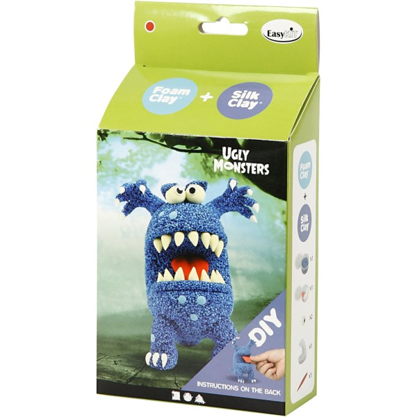 DIY blauw monster klei