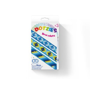 Diamond dotz dotzies armbanden blues set