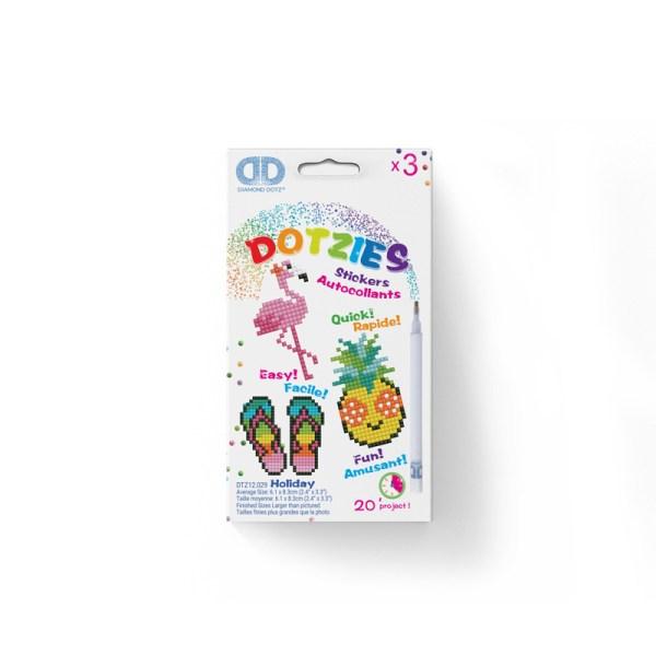 Diamond dotz dotzies stickers holiday flamingo slippers ananas