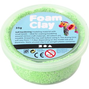 foam clay neon groen