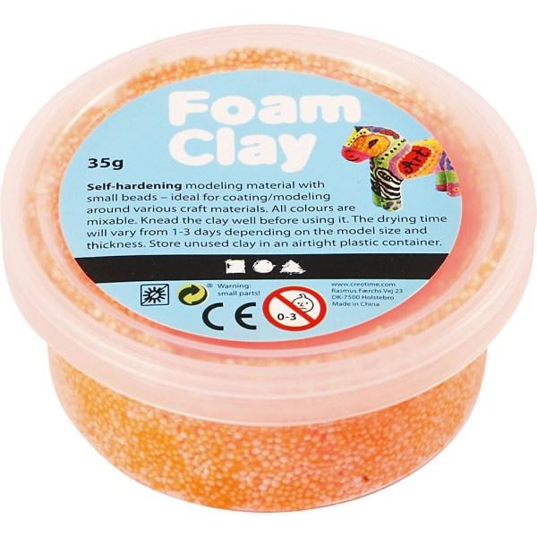foam clay neon oranje