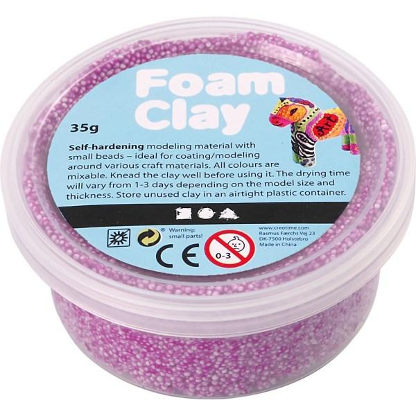 foam clay neon paars