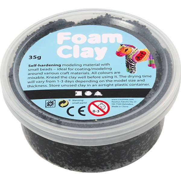 foam clay zwart