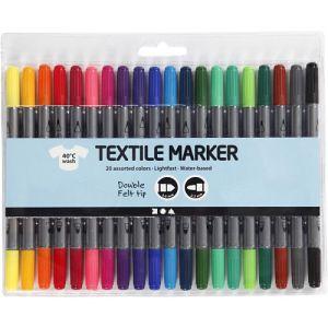 textielstiften standaard kleuren