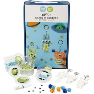 DIY set space monsters boetseren