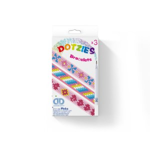Diamond dotz dotzies armbanden pinks