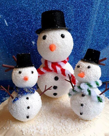 sneeuwmannen uit klei