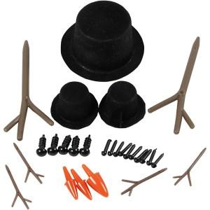 hoeden, neuzen en takken set