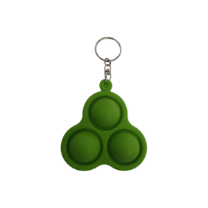 pop it triangle sleutelhanger groen
