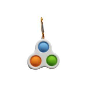 simple dimple sleutelhanger blauw groen oranje