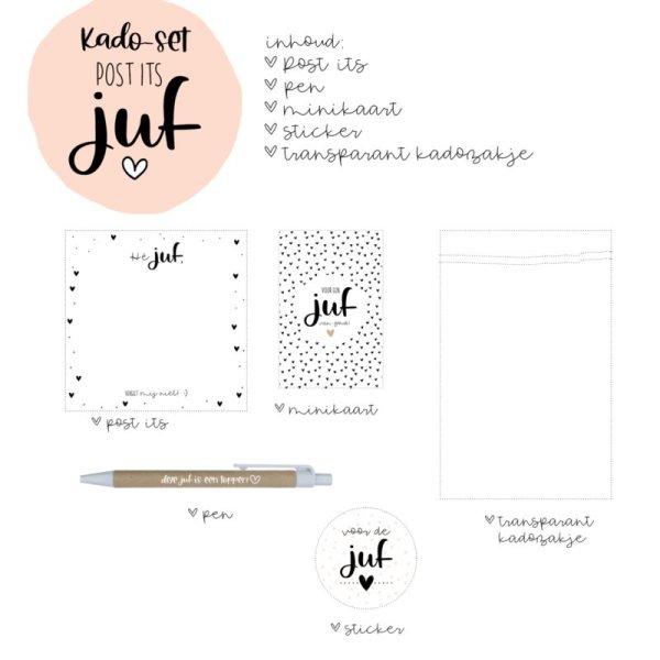 cadeau set post its juf