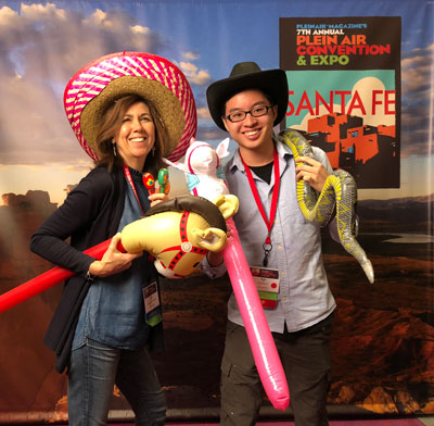 Kyle Ma and Julie Snyder at Plein Air Convention, PACE 2018