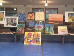 schildercursus in de Vogezen in Frankrijk in oktober
