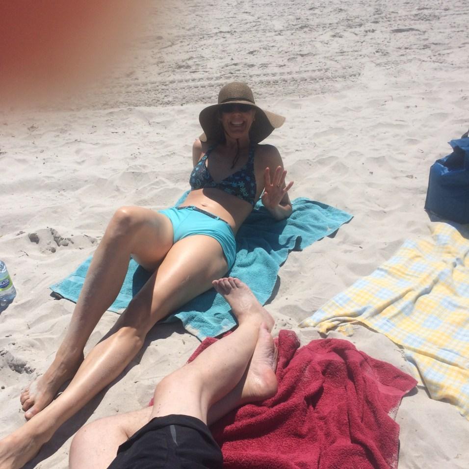 """Katrin says """"Peace, Love and Beach."""""""