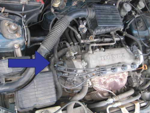 small resolution of starter location on a civic