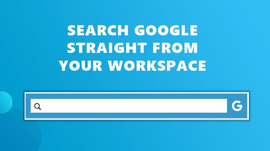Google search bar Workspace 365
