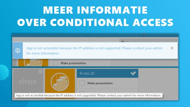 Meer informatie conditional access Workspace 365
