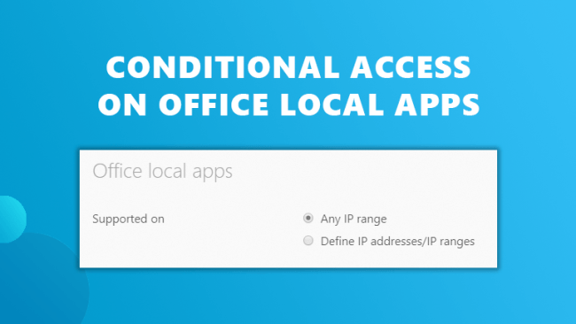Conditional access office local Workspace 365