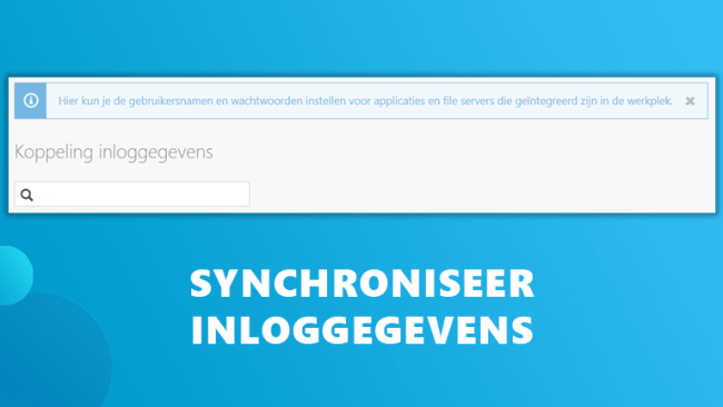 Synchroniseer inloggegevens Workspace 365