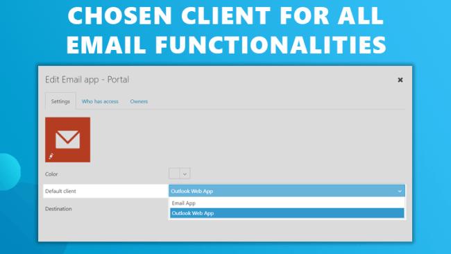 Chosen email client workspace 365