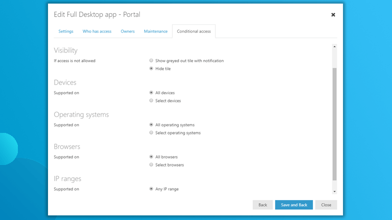 Conditional Access Workspace 365