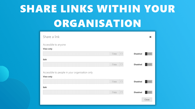 Share links Workspace 365