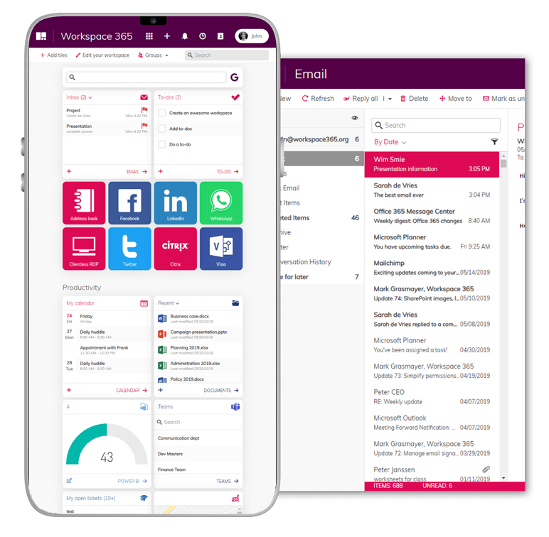 Business Apps on Office 365, Exchange and SharePoint