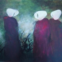 Handmaids Tell Acrylic and charcoal on canvas