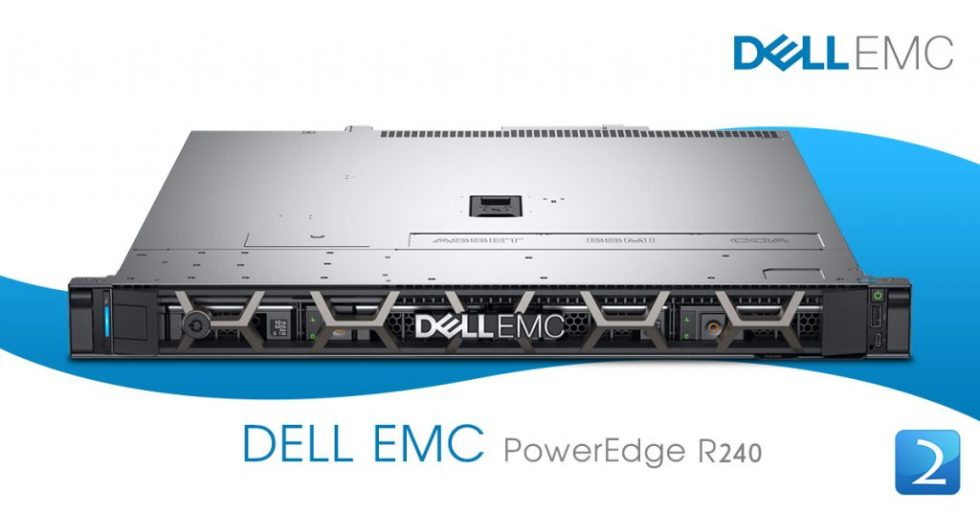 Dell PowerEdge R240 E-2124 8GB 2*1TB PERC H330 3Yr Basic Warranty
