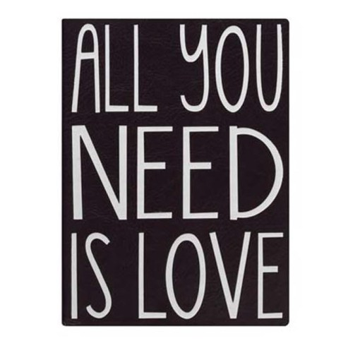 All you need is love notesbog med 256 sider linjeret papir