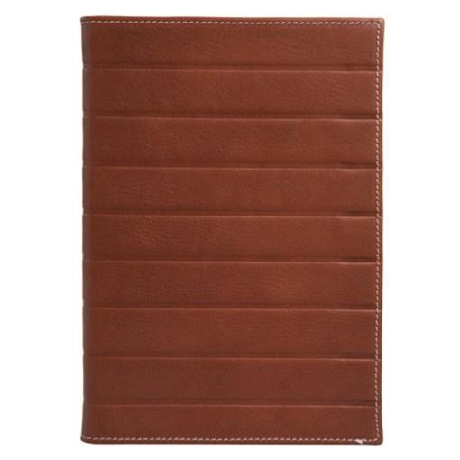 Art Deco notesbog i ægte læder