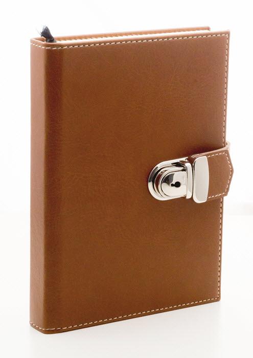 Dagbog med lås brun