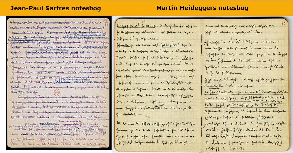 Store tænkere og deres notesbøger