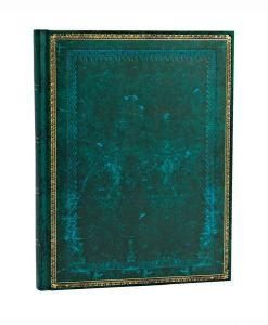 Antik læder-look notesbog