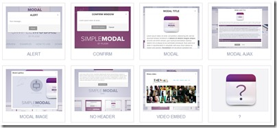 SimpleModalのデモ画面画像