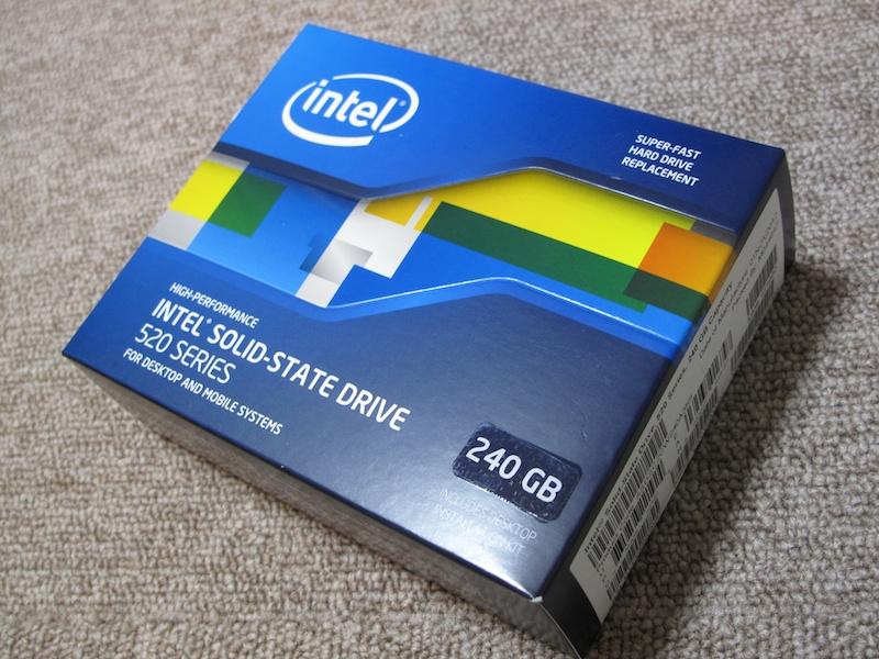 Intel SSD 520 240GBパッケージ