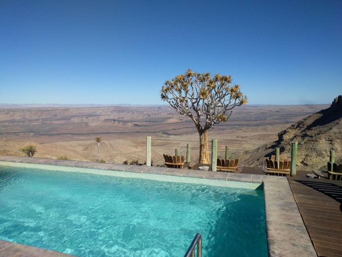 Blick von der Fish River Lodge in den Fish River Canyon
