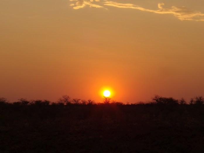 Sonnenuntergang am Grootberg