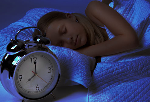 Sleeping early at night time