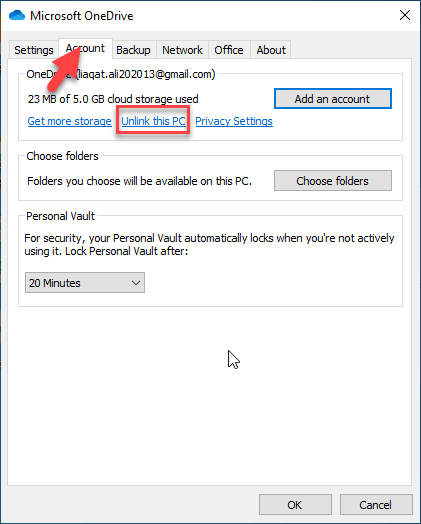 Disable OneDrive on Windows 10