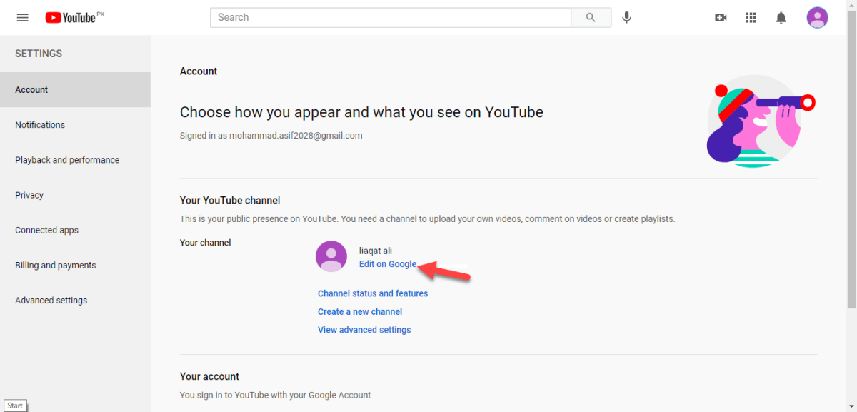 Change YouTube Channel Name on Web and Mobile