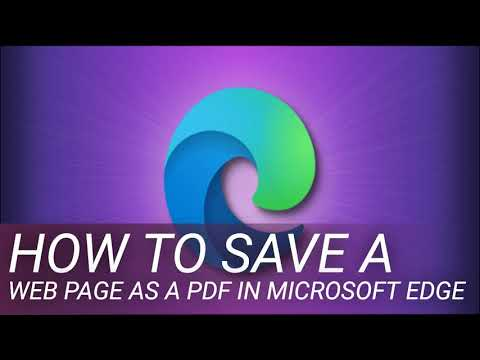 How to Save a Web Page as a PDF in Microsoft Edge