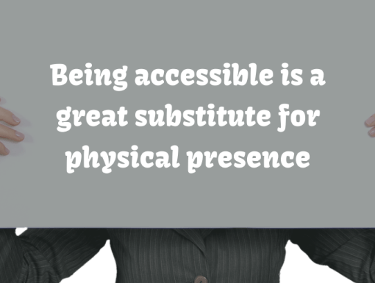 Being accessibile