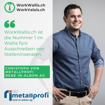 WorkWallis Job-Plattform Testimonial Metallprofi